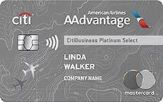 CitiBusiness(R) / AAdvantage(R) Platinum Select(R) Mastercard(R) - A Citi Platinum Credit Card - One of Citi's Best Business Credit Cards